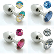 Pretty Plug Stainless Steel Booty Bling Plug (Multiple Colors & Sizes Available)  Anal Plug Haka Peepshow Toys