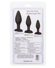 CalExotics Silicone Anal Exerciser Kit - 3 Butt Plugs for Anal Training - Hamilton Park Electronics