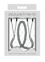 Sexperiments Tug On My Heart Nipple Clips by Sportsheets - Hamilton Park Electronics