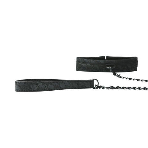 Midnight Lace Collar and Leash by Sportsheets  Collar & Leash Sportsheets Peepshow Toys