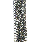 Midnight Jeweled Chained Tickler Flogger by Sportsheets
