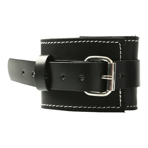 Edge Leather Wrist Restraints  Cuffs Sportsheets Peepshow Toys