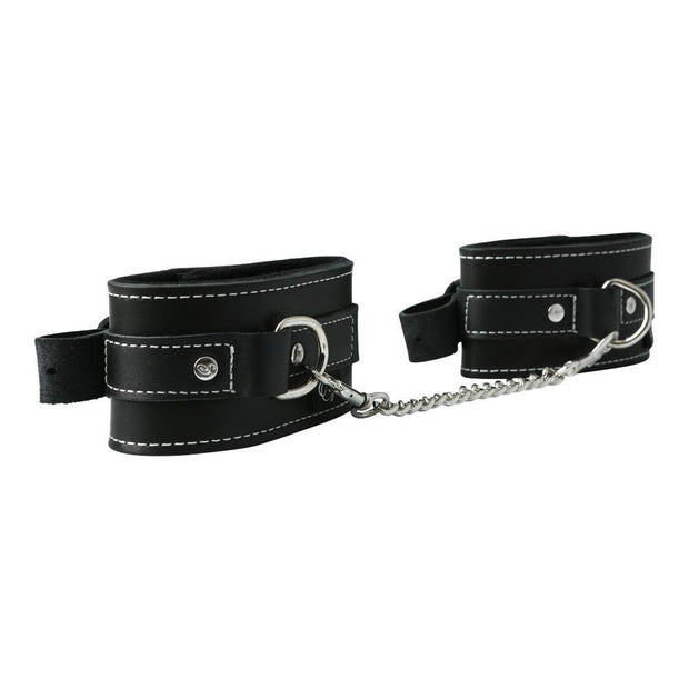 Edge Leather Ankle Restraints  Cuffs Sportsheets Peepshow Toys