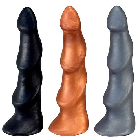 SquarePegToys® Triple Wave SuperSoft Silicone Dildo - Hamilton Park Electronics