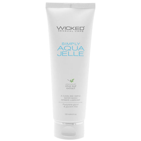 Wicked Simply Aqua Jelle Thick Water-Based Lubricant with Aloe - Hamilton Park Electronics