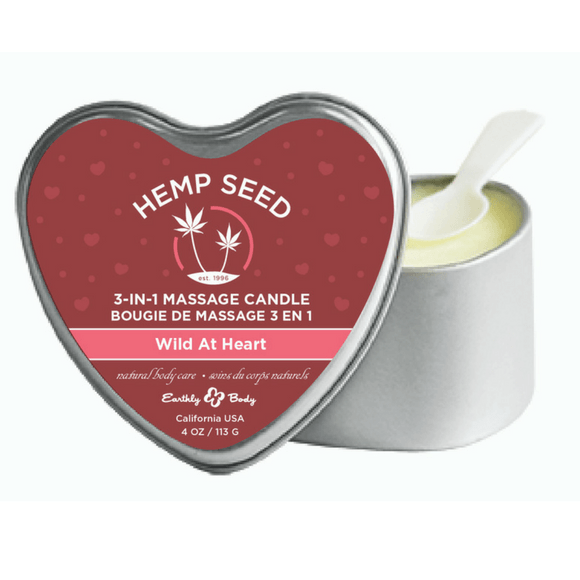 Earthly Body Wild At Heart 3-in-1 Hemp Seed Massage Candle