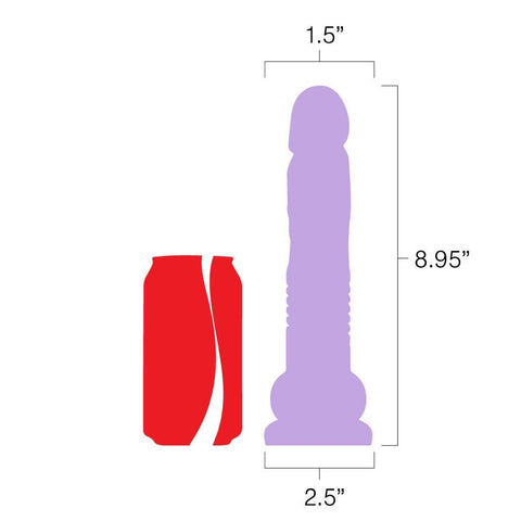 Velvet Thruster Mini Teddy Self-Propelled Thrusting Dildo with Suction Base