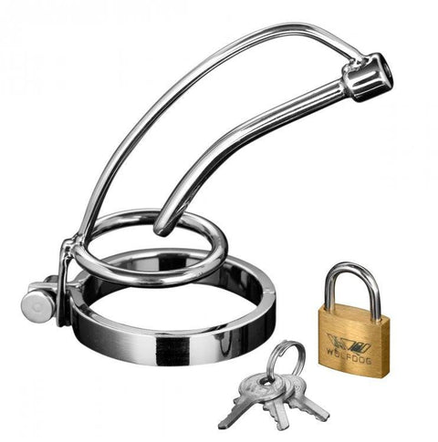 Stainless Steel Asylum Locking Chastity Brace - Hamilton Park Electronics