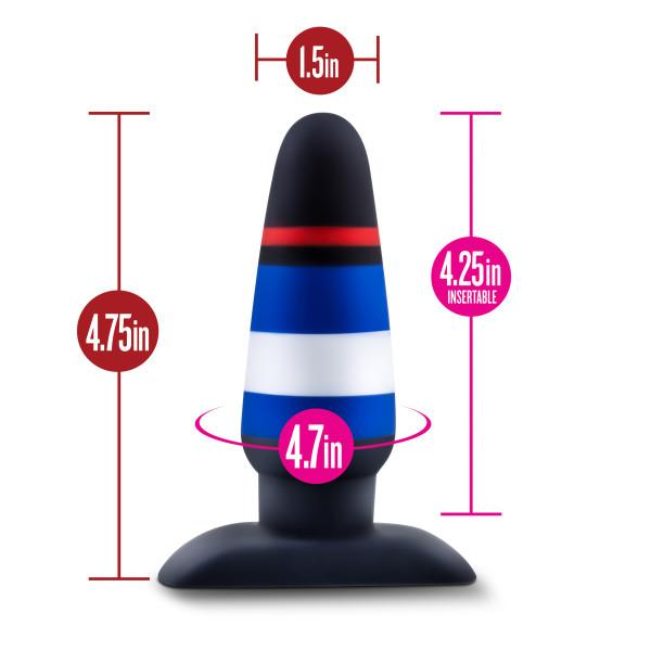 Avant Pride P4 Power Play Silicone Butt Plug  Anal Plug Blush Novelties Peepshow Toys