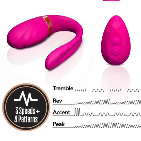 Blush Lush Ava Wearable Couples Vibrator with Remote Control