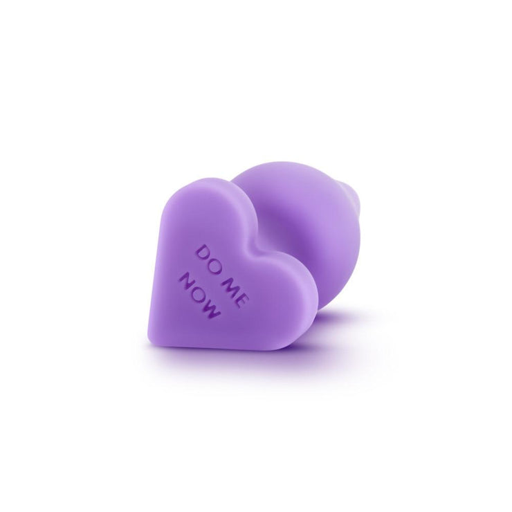 "Naughty Candy Heart Butt Plug - ""Do Me Now"""