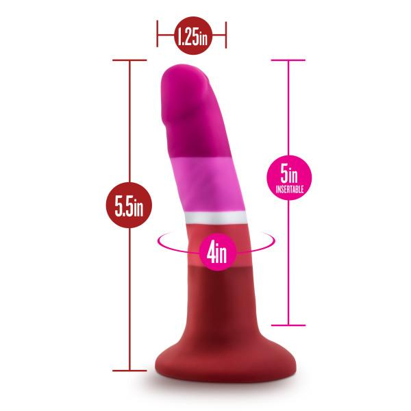 Avant Pride P3 Beauty Petite Harness Ready Suction Cup Silicone Dildo  Dildo Blush Novelties Peepshow Toys