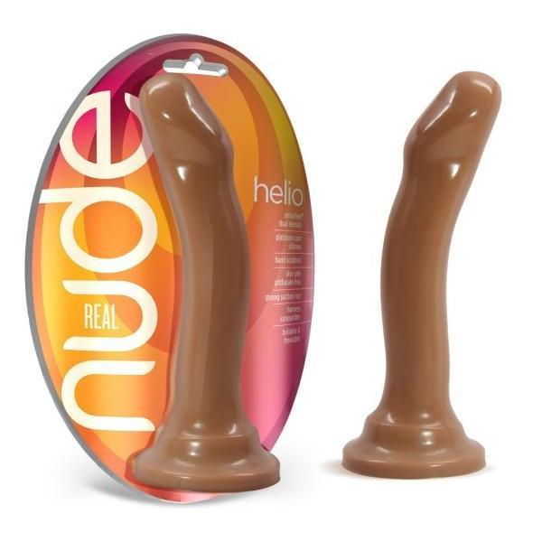 Real Nude Helio Silicone Suction Cup Dildo Toffee