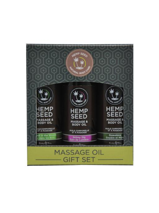 Earthly Body Hemp Seed Massage Oil Gift Set