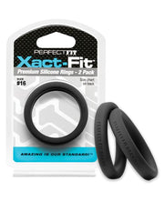 Perfect Fit Xact-Fit Silicone Cock Rings, 2-Packs, 14 Possible Sizes