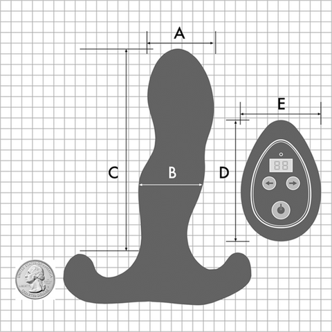 Aneros Vice 2 Vibrating Dual Motor Prostate Massager with Remote Control - Hamilton Park Electronics
