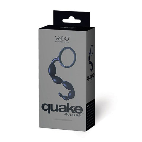 QUAKE Non-Vibrating Silicone Anal Chain Beads by VeDO  Anal Beads Vedo Peepshow Toys