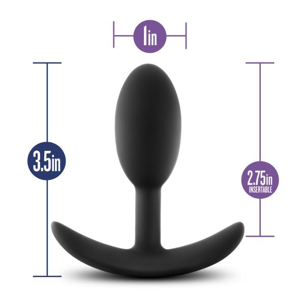 Blush Luxe Wearable Vibra Slim Silicone Butt Plugs, Small & Medium  Anal Plug Blush Novelties Peepshow Toys