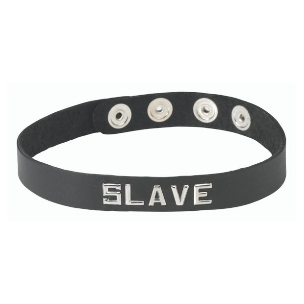 Spartacus Word Band Collar SLAVE