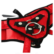 Plus Size Red Corsette Harness