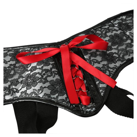 Sportsheets Plus Size Grey and Black Lace Harness - Hamilton Park Electronics