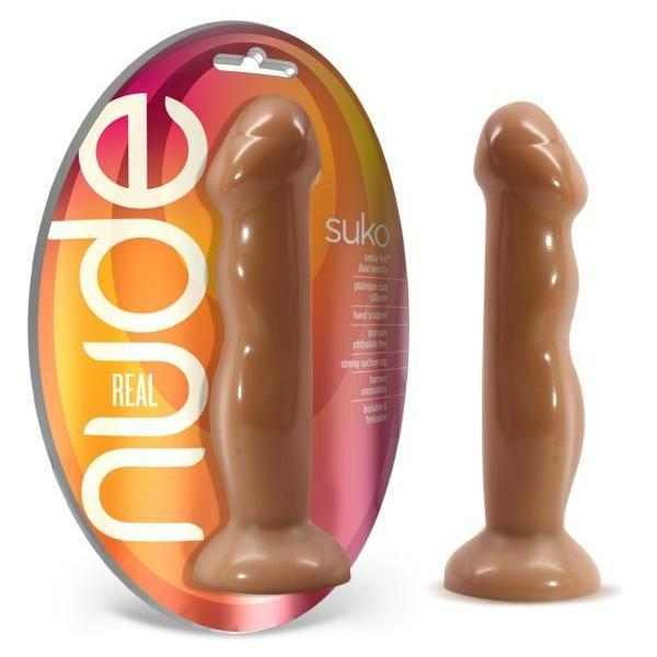 Real Nude Suko Silicone Suction Cup Dildo Toffee