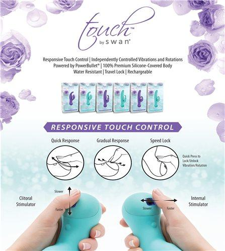 Touch By Swan Duo Rechargeable Silicone Dual-Stimulation Vibrator