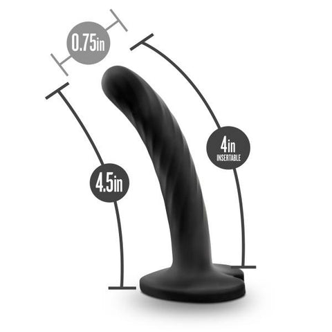 Blush Temptasia Twist Silicone Suction Cup Dildo with Heart-Shaped Base - Hamilton Park Electronics