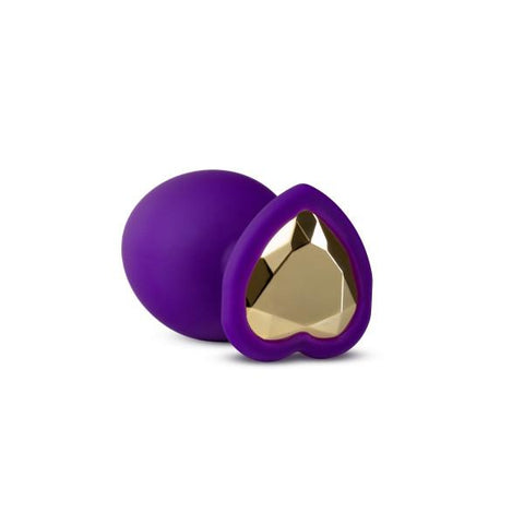 Blush Temptasia Bling Butt Plugs, Purple with Gold Gemstone - 3 Sizes - Hamilton Park Electronics