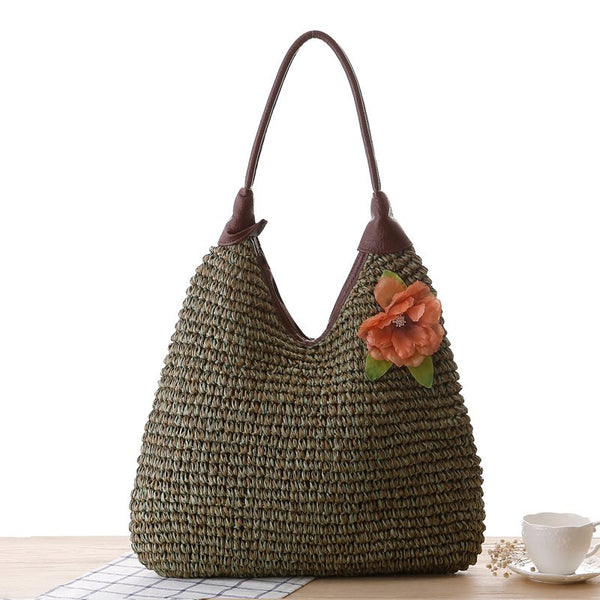 Plain Linen Knitted Japanese Tote Bags