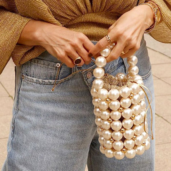 Vintage Beads Barrel-Shaped Tote Bags