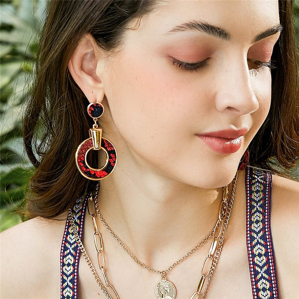 Alloy Serpentine European Anniversary Earrings