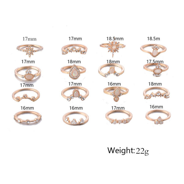 Round E-Plating Vintage Birthday Rings