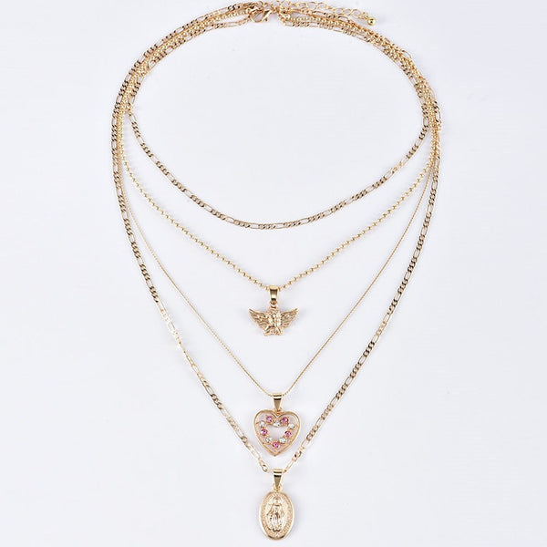 Vintage E-Plating Pendant Necklace Female Necklaces