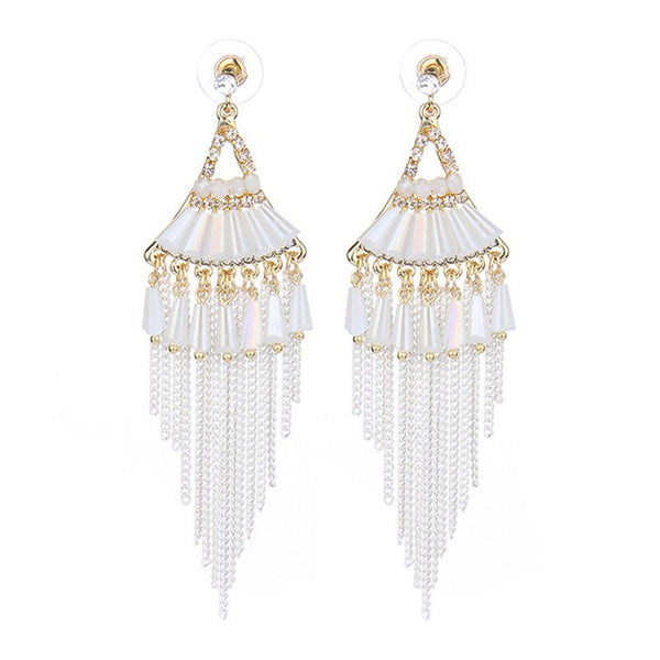Alloy Geometric Diamante Birthday Earrings