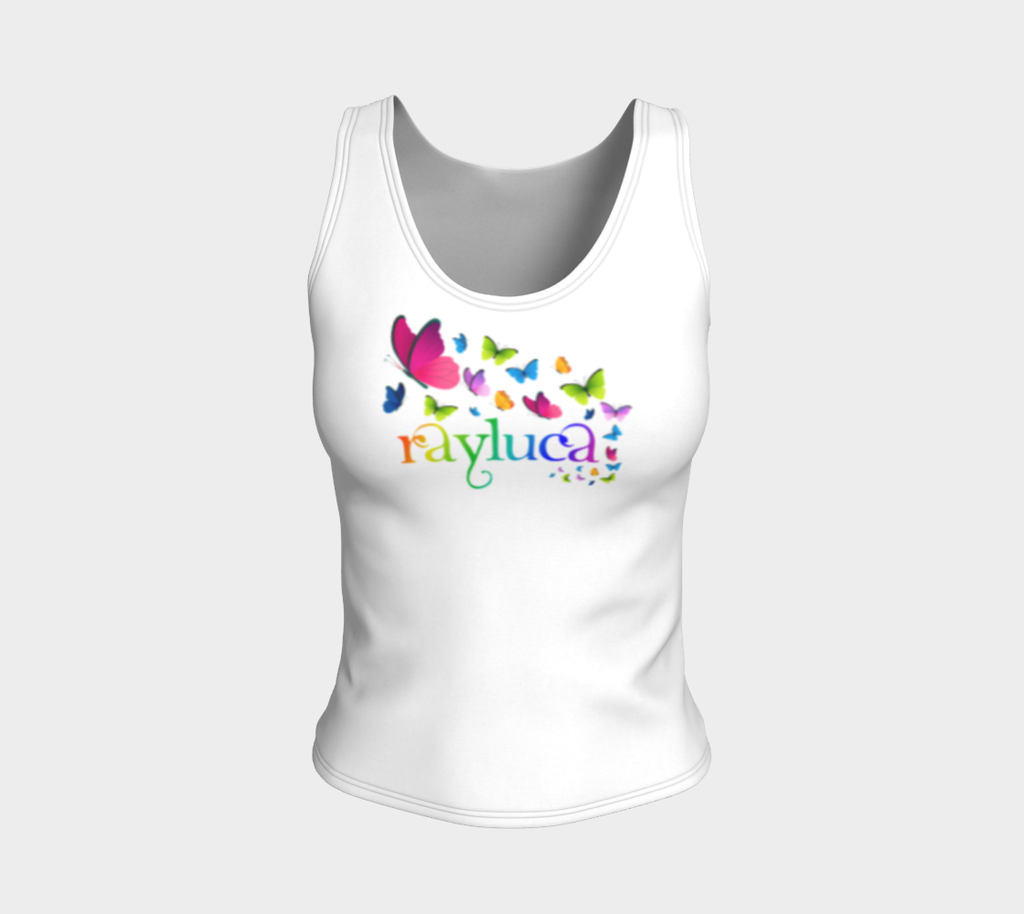 Multi-Color Rayluca Fitted Tank Top - Rayluca
