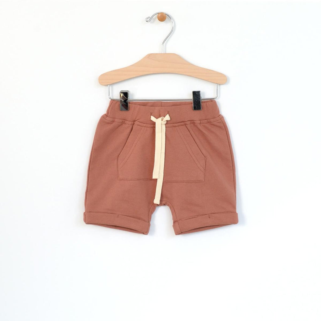 Kangaroo Pocket Shorts - Clay