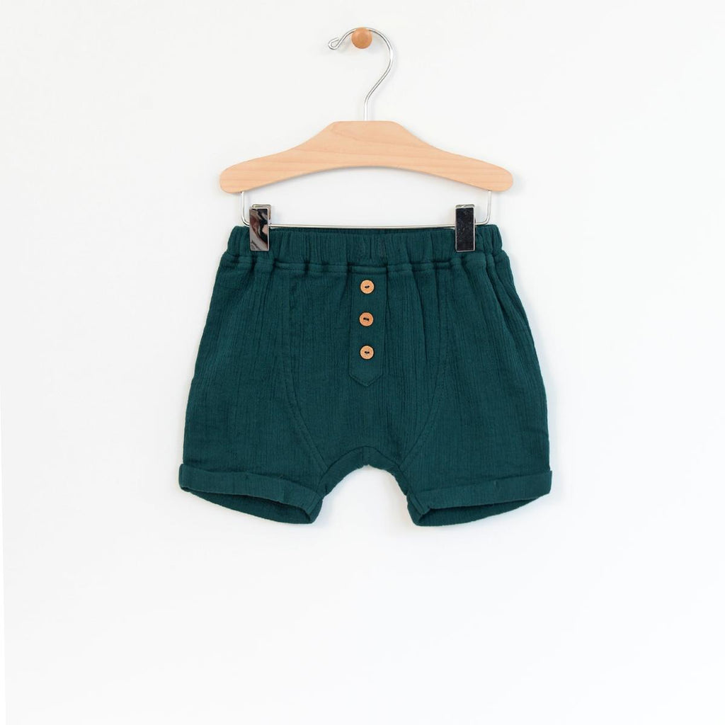 Crinkle Cotton Boy Shorts