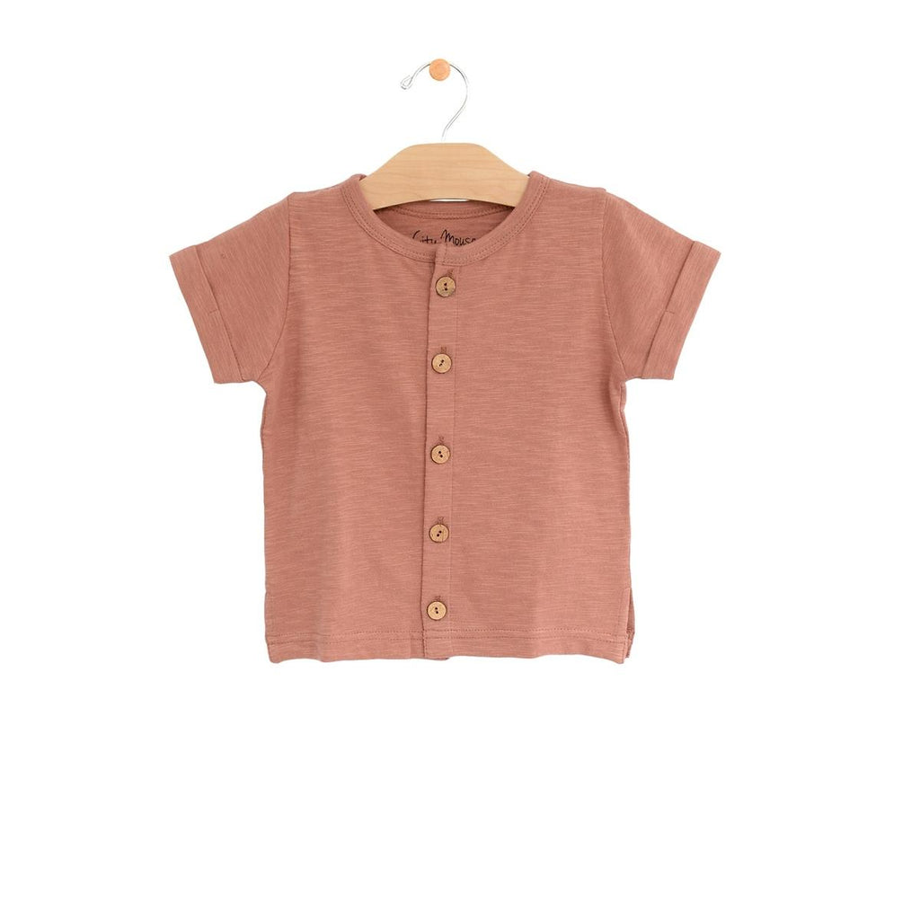 Button Down Tee