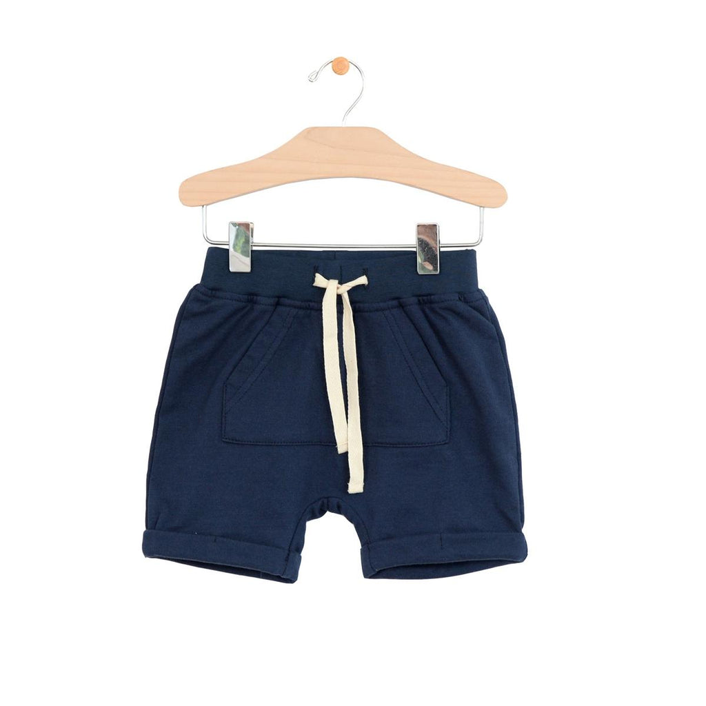 Kangaroo Pocket Shorts - Midnight Blue