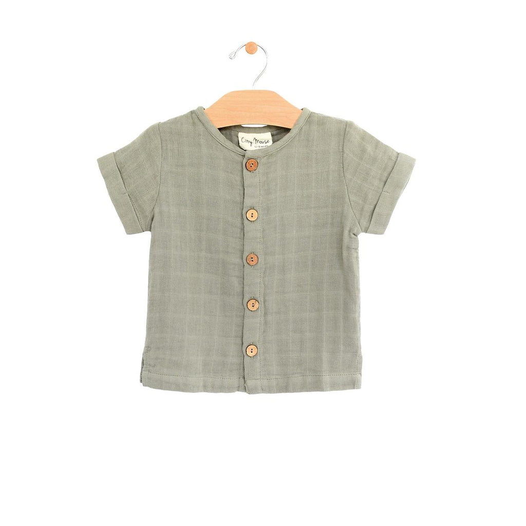Muslin Button Down Tee