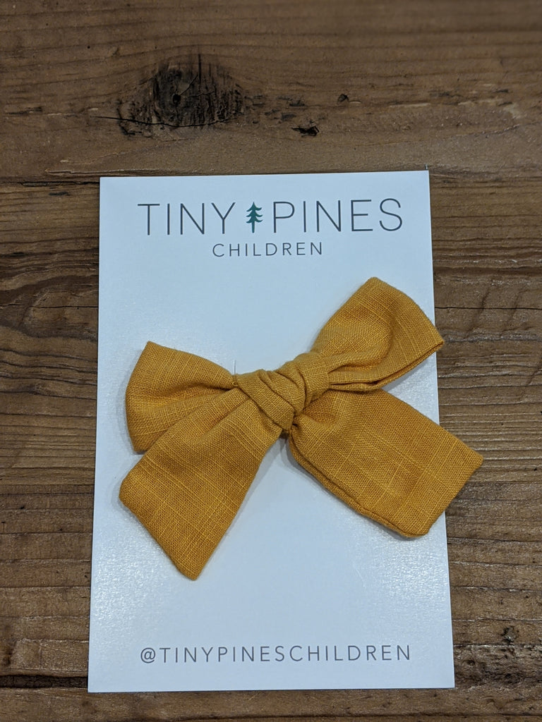 Autumn Linen Bow Clips