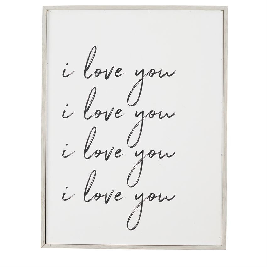 """I Love You"" Large Plaque"