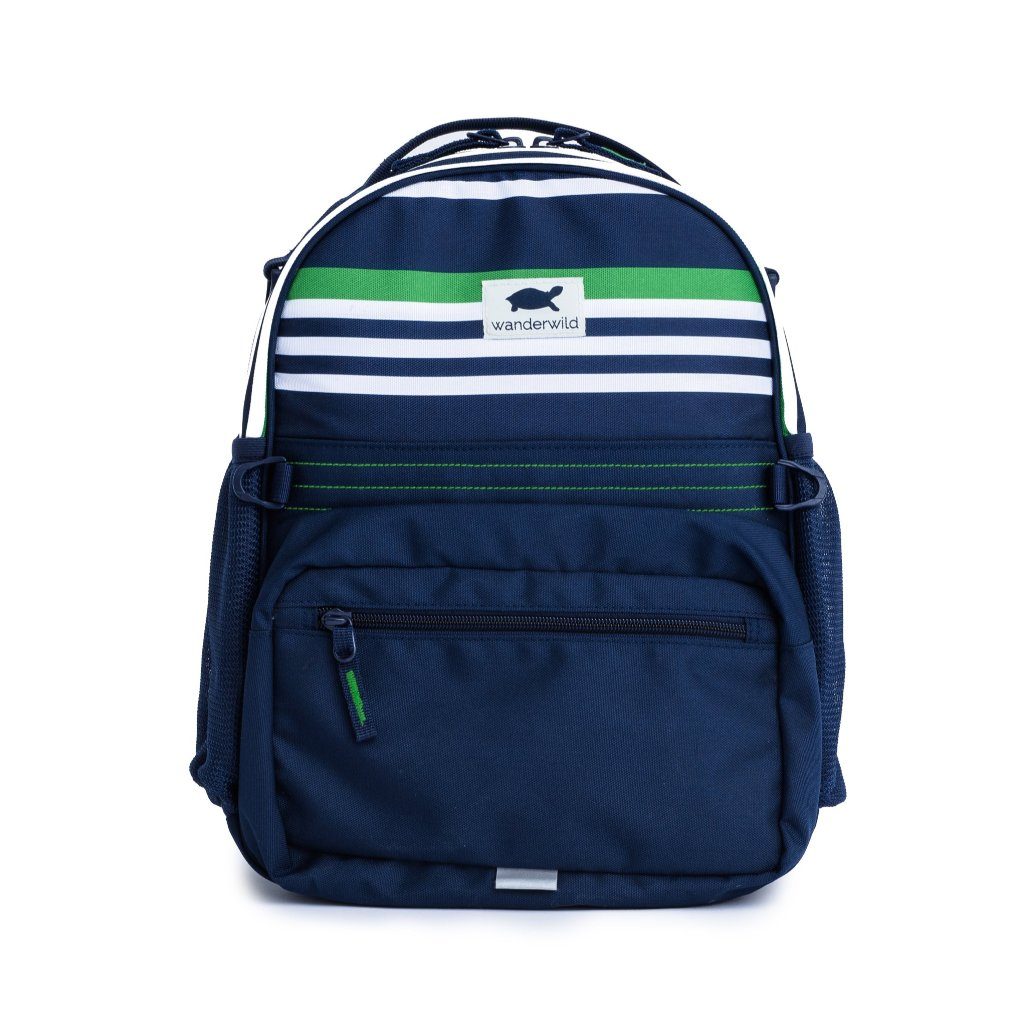 The Wanderer Backpack - Green Stripe