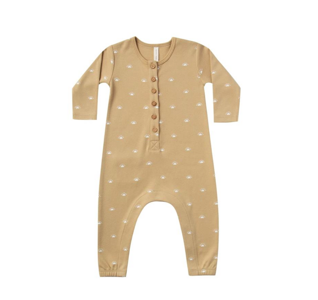 Long-Sleeved Jumpsuit - Honey