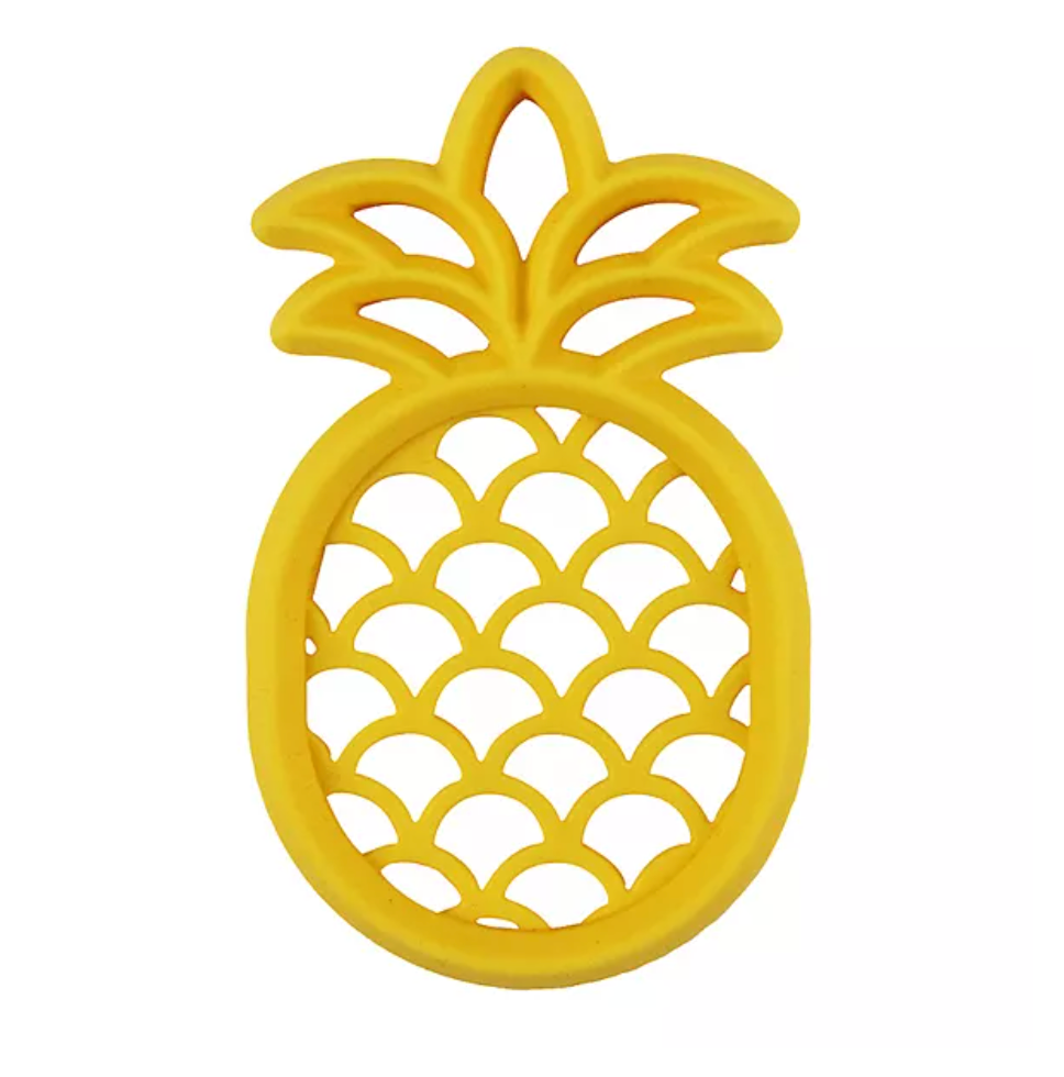 Chew Crew Silicone Teether - Pineapple