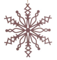 Wood Snowflake Ornament