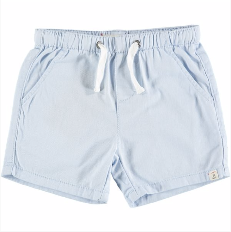 Pale Blue Twill Shorts - Toddler