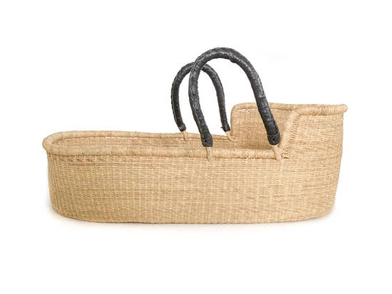 Moses Basket - Pelu Black