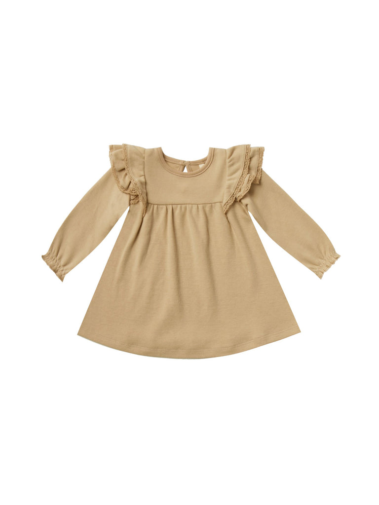 Sleeved Flutter Dress- Honey
